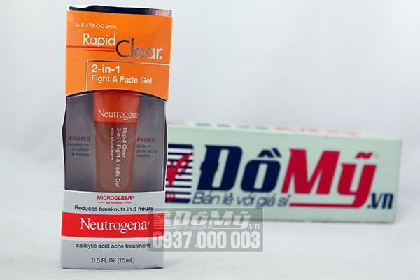 Gel trị mụn hiệu quả Neutrogena Rapid Clear 2 in 1 chai 15ml của Mỹ