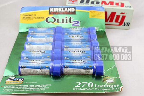 Kẹo cai thuốc lá Kirkland Gum Quit2 270 viên của Mỹ