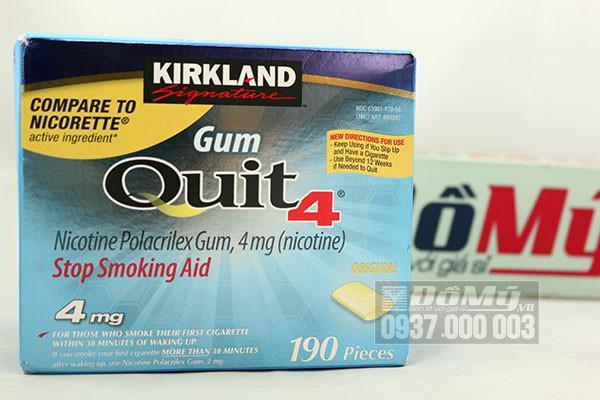 Kẹo cai thuốc lá Kirkland Gum Quit4 190 viên của Mỹ