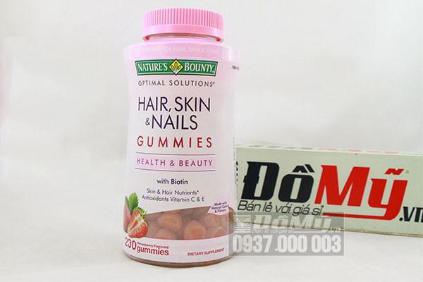 Kẹo dẻo đẹp da, tóc, móng Hair, Skin & Nails Gummies 230 viên của Mỹ