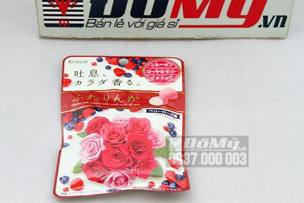 Kẹo hoa hồng Collagen Kracie cao cấp loại 12 viên của Nhật Bản