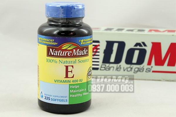 Vitamin E Nature Made 400IU 225 viên của Mỹ
