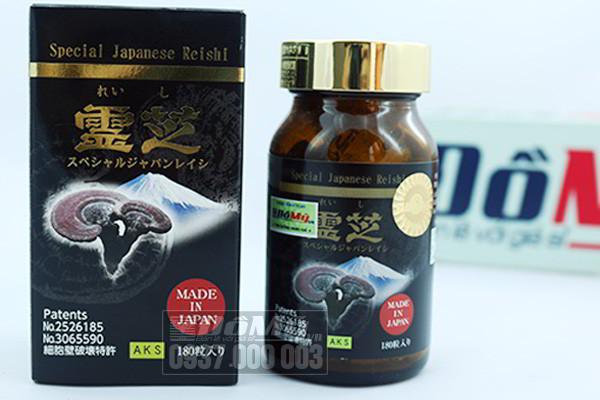 Tinh chất cô đặc nấm linh chi 180 viên Nhật Bản