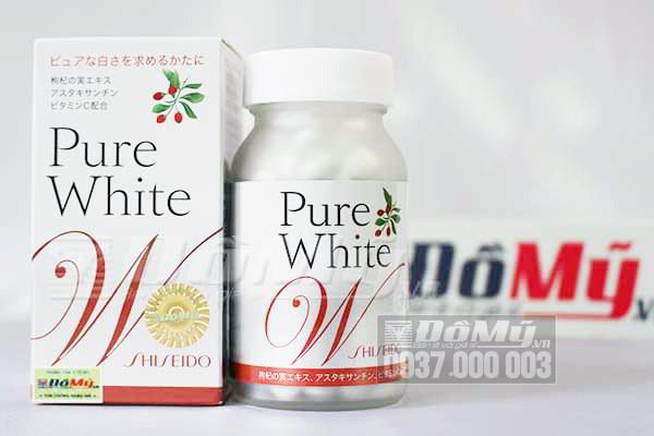 Viên làm trắng da The Collagen Shiseido Pure White 270 viên của Nhật Bản