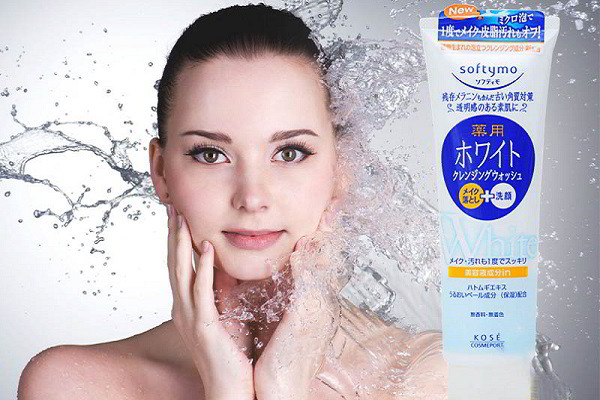 Sữa rửa mặt Softymo white - Nhật
