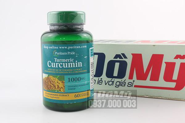 Viên uống tinh chất nghệ vàng Curcumin puritan's pride 100mg hộp 60 viên của Mỹ
