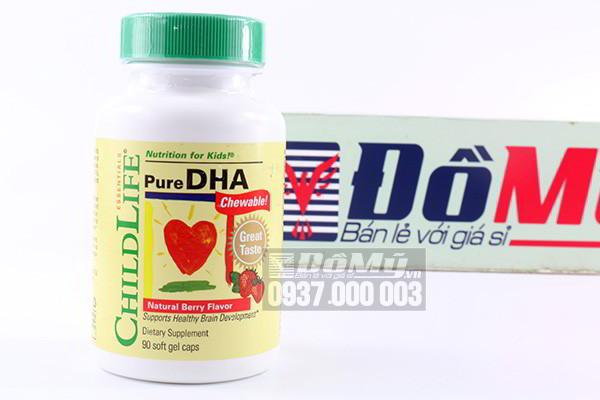 Viên uống bổ sung DHA dành cho bé từ 6 đến 12 tháng ChildLife Pure DHA hộp 90 viên của Mỹ