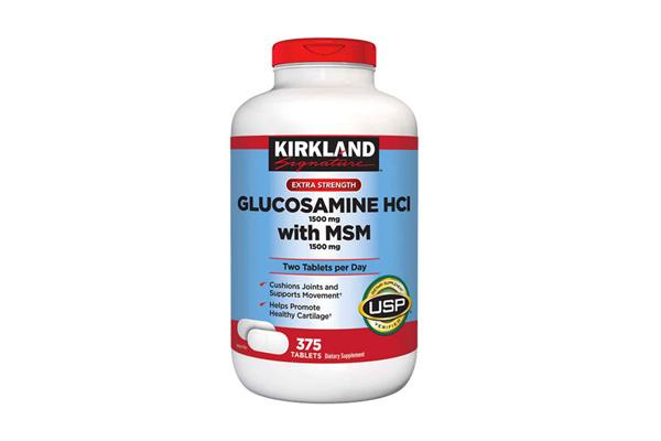 Viên uống bổ khớp của Mỹ Kirkland Signature™ Glucosamin HCL & MSM 1500mg hộp 375 viên