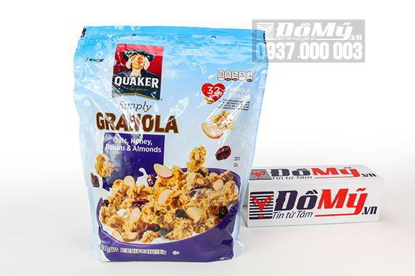 Bột Yến mạch ăn liền Quaker Granola 978g của Mỹ