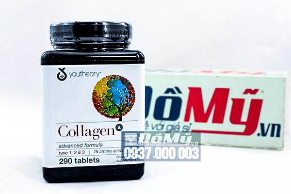 Collagen C Youtheory Advanced Formula Collagen loại 1, 2 & 3 + C của Mỹ