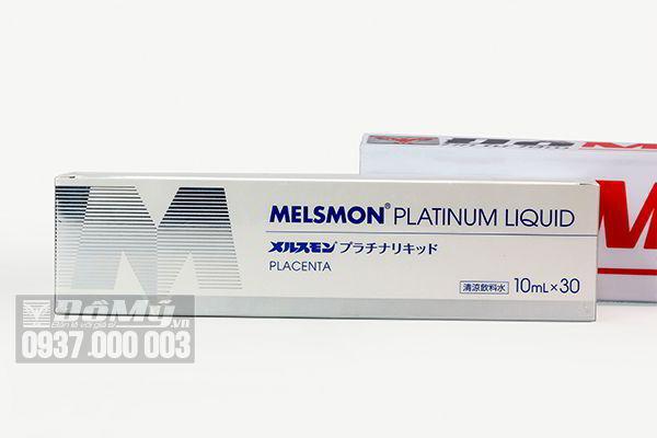 Nhau thai ngựa Melsmon Platinum Liquid Placenta 30 ống của Nhật