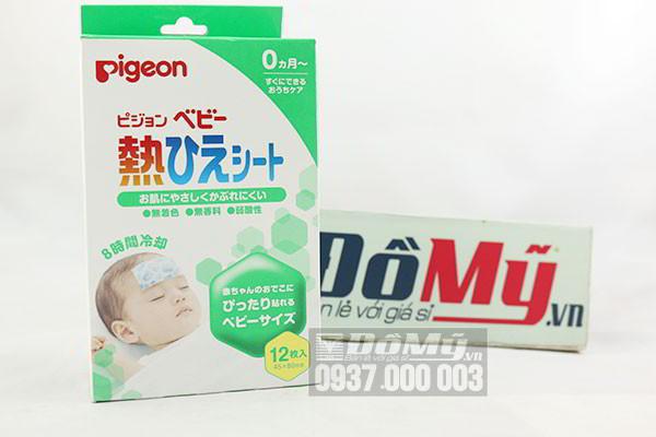 Miếng dán hạ sốt cho bé Pigeon 12 miếng của Nhật Bản