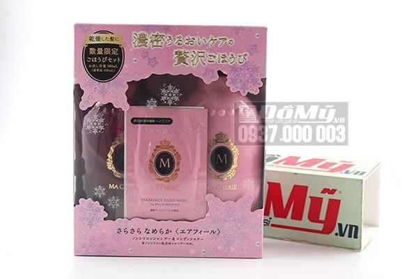 Bộ dầu gội xả Shiseido Macherie được tặng thêm mặt nạ tóc Macherie của Nhật Bản