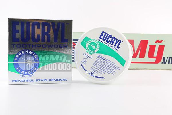 Bột giúp làm trắng răng EUCRYL nhập khẩu từ Anh