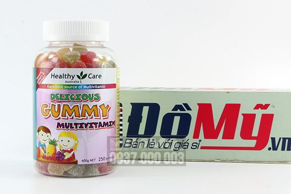 Kẹo mềm vitamin tổng hợp cho bé Gummy Multivitamin của Healthy Care 250 viên của Úc