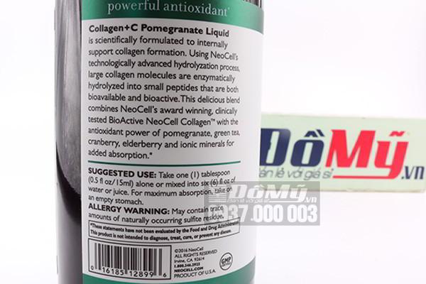 Collagen lựu sản xuất tại Mỹ