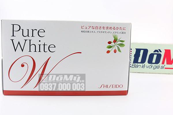Nước uống làm trắng da toàn thân Pure White Shiseido của Nhật Bản (Mẫu mới)
