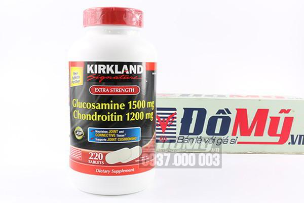 Thuốc bổ khớp Kirkland Glucosamine Chondroitin hàng nhập Mỹ 220 viên