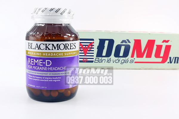 Viên uống Blackmores Reme D giảm đau nửa đầu, rối loạn tiền đình hộp 60 viên của Úc