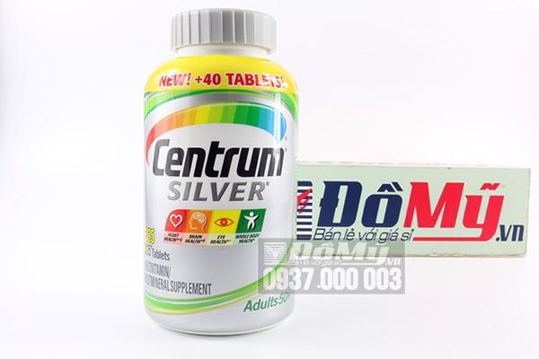 Centrum Silver Adults 50+ Hộp 285 viên Vitamin cho người trên 50 tuổi