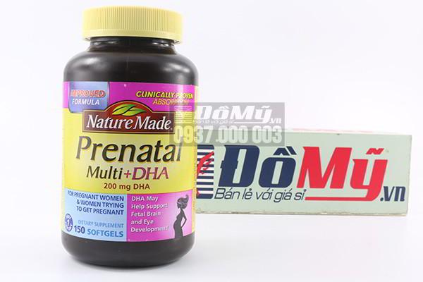 Thuốc bổ cho bà bầu Nature Made Prenatal Mutil DHA loại150 viên