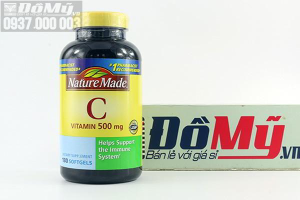 Viên bổ sung Vitamin C Nature Made 500mg của Mỹ hộp 180 viên
