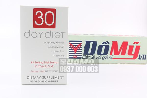 Viên uống giảm cân 30 Day Diet 60 Viên của Mỹ
