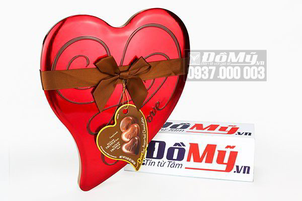 Kẹo chocolate trái tim Dove Milk Chocolate Truffle Hearts 184.3g của Mỹ