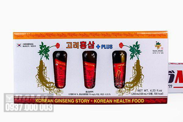Nước hồng sâm có củ KGS cao cấp 120ml x 10 chai của Hàn Quốc