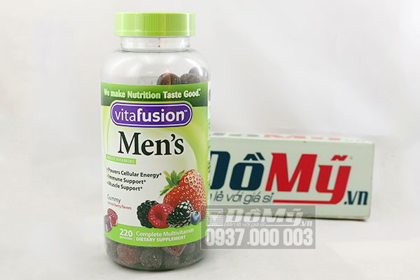 Kẹo Vitamin cho nam Vitafusion Men's Complete Multivitamin 220 viên của Mỹ
