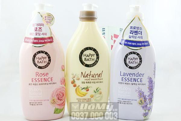 Sữa tắm của Hàn Quốc Happy Bath Lavender, Rose loại 500ml