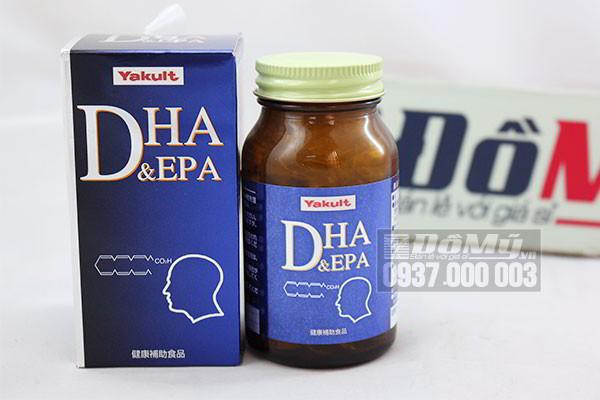 Viên uống giúp bổ não DHA & EPA Yakult hộp 120 viên của Nhật Bản