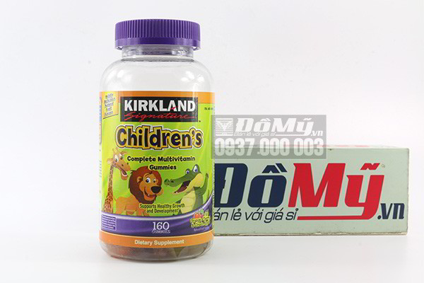 Kẹo dẻo Kirkland Signature Childrens Complete Multivitamin Gummies 160 viên của Mỹ