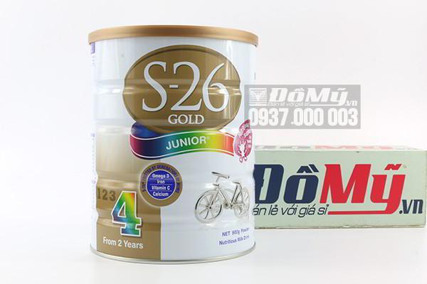 Sữa S26 Gold Junior số 4 dành cho trẻ trên 2 tuổi 900g của Úc