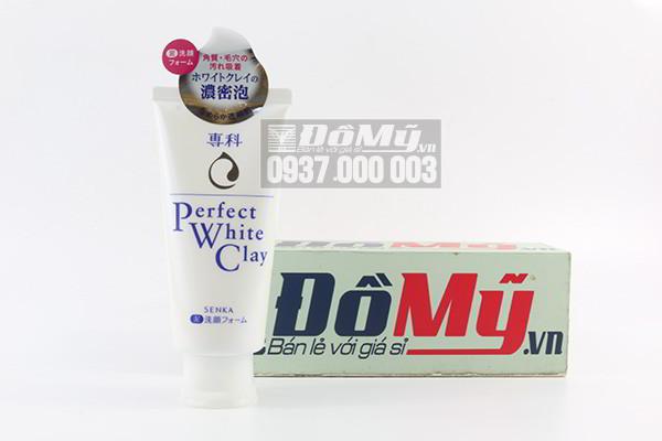 Sữa rửa mặt Senka Perfect White Clay 120g của Nhật