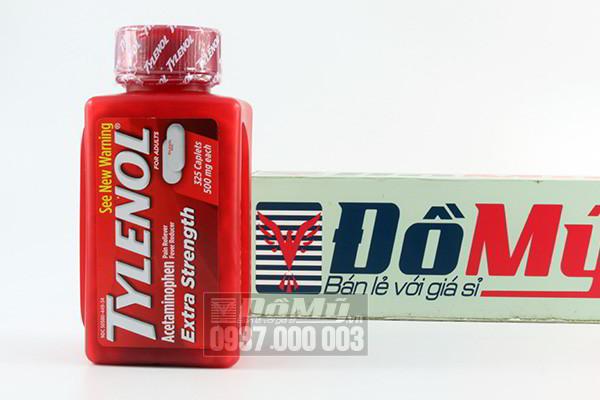 Thuốc giảm đau, hạ sốt Tylenol Extra Strength Acetaminophen 325 viên của Mỹ