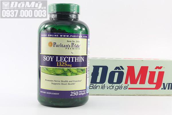 Tinh chất mầm đậu nành Puritans Pride Soy Lecithin 1325mg 250 viên của Mỹ