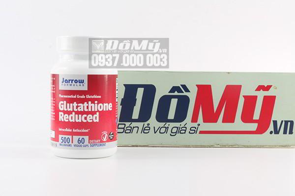 Viên uống hỗ trợ trắng da, chống lão hóa và bổ gan Glutathione Reduced 500mg 60 viên của Mỹ