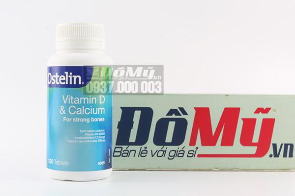 Viên uống bổ sung vitamin D và Canxi Ostelin hộp 130 viên của Mỹ