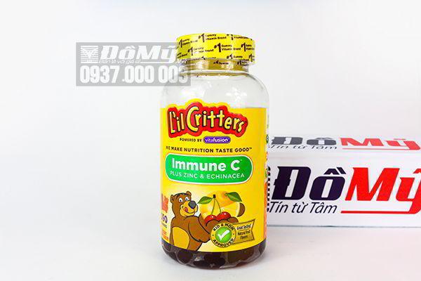 Kẹo dẻo bổ sung  vitamin C và tăng cường sức đề kháng L'il Critters Immune C 190 viên của Mỹ