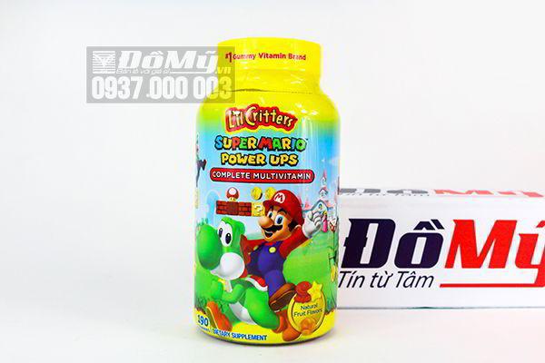 Kẹo dẻo L'il Critters Super Mario Power Ups Complete Multivitamin 190 viên của Mỹ