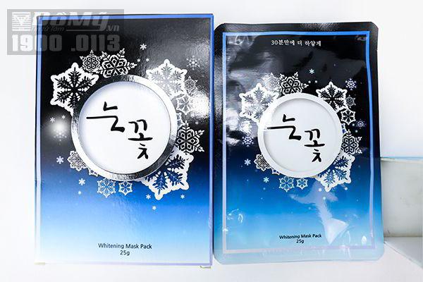 Mặt nạ Hoa Tuyết whitening mask pack Hàn Quốc