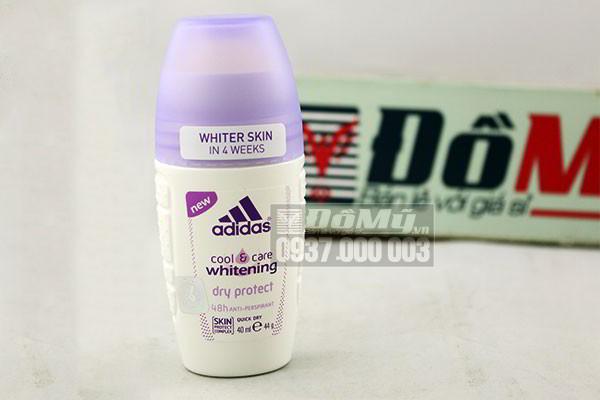 Lăn khử mùi nữ Adidas cool & care whitening dry protect Thái Lan loại 40ml