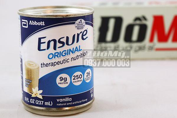 Sữa Ensure Nước Hương Vani 237ml (Thùng 24 hộp) – Abbott Hoa Kỳ