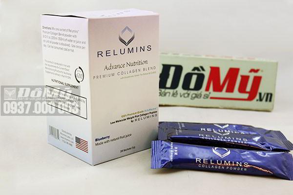 Thực phẩm dưỡng trắng da Relumins Premium Collagen Blend 5g của Mỹ
