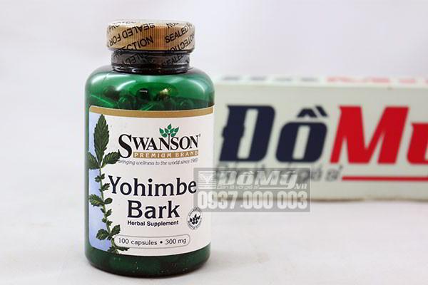Thuốc hỗ trợ tăng cường sinh lực nam nữ Swanson Yohimbe Bark 100 viên của Mỹ