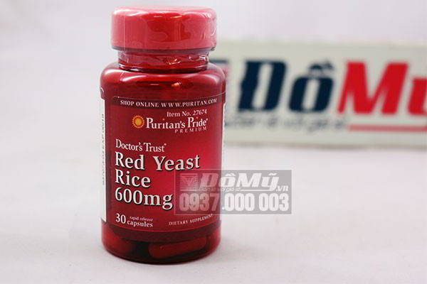 Thực phẩm bổ sung Puritan's Pride Doctor's Trust Red Yeast Rice 600mg của Mỹ