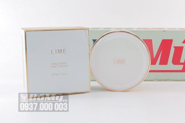 Phấn nước Lime Real Cover Pink Cushion SPF 50+/ PA+++ 20g của Hàn Quốc