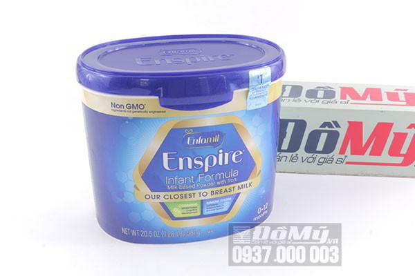 Sữa công thức Enfamil Enspire Infant Formula Non GMO 581g của Mỹ dành cho trẻ 0-12 tháng tuổi