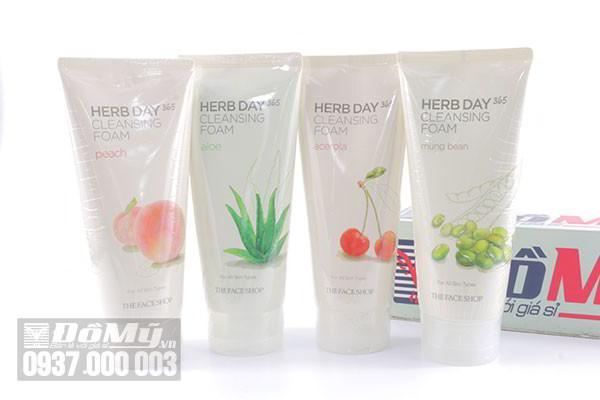 Sữa rửa mặt Herb Day 365 Cleansing Foam The Face Shop 170ml của Hàn Quốc